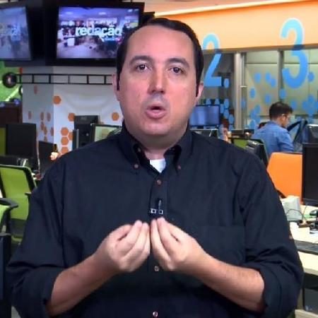 Carlos Cereto, comentarista da SporTV - Reprodução /SporTV