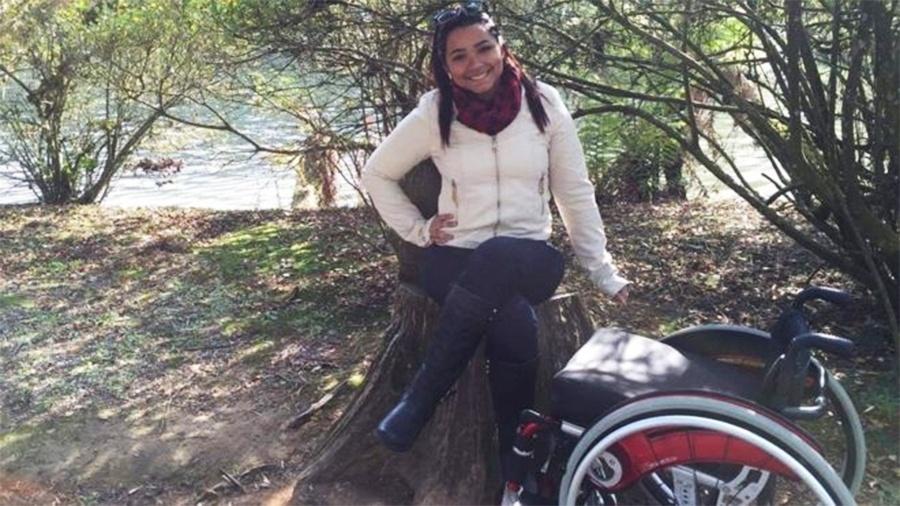 """""""Eu me senti ali. Era como se fosse eu"""", diz jovem que ficou paraplégica depois de levar quatro tiros em Realengo - Arquivo pessoal"""