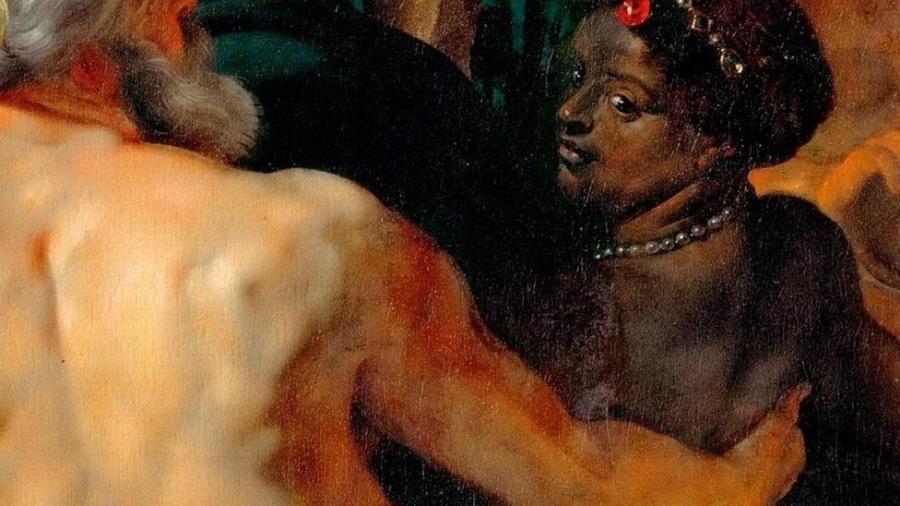 Os Quatro Rios, de Rubens, é considerado incomum por representar uma figura poderosa de mulher negra - Getty Images