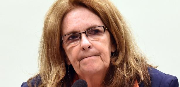 26.mar.2015 - Graça Foster, ex-presidente da Petrobras, é ouvida na CPI da estatal - Evaritos Sa/AFP
