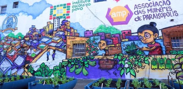 Associação de moradores forneceu o espaço, usado também para ensinar os moradores a espalhar a ideia