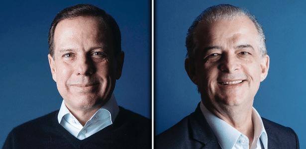 João Doria (PSDB), à esq., e Márcio França (PSB)