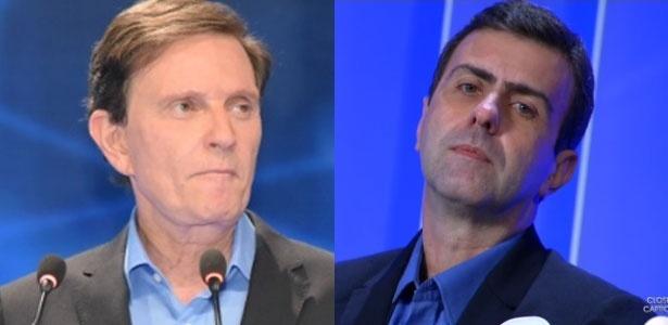 Tanto nas propostas de Crivella (à esquerda) quanto nas de Freixo, a corrupção não é um tema recorrente