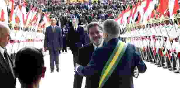 Posse de Lula em 2003, quando FHC passou a faixa presidencial - Alan Marques - 1.jan.03/Folhapress - Alan Marques - 1.jan.03/Folhapress
