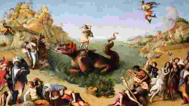 Na pintura Perseus Libertando Andrômeda, do artista Piero di Cosimo, a princesa é branca - Getty Images - Getty Images