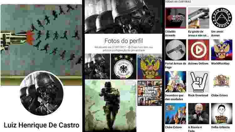 Facebook de Luiz Henrique de Castro - Reprodução/Facebook - Reprodução/Facebook
