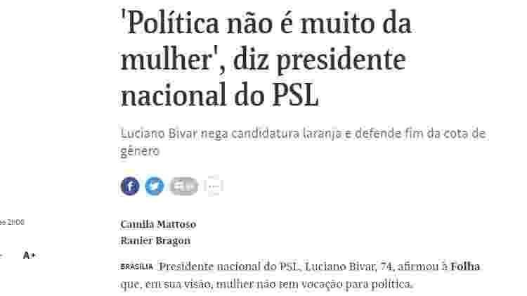 Folha Bivar - Reprodução/Folha de S.Paulo - Reprodução/Folha de S.Paulo