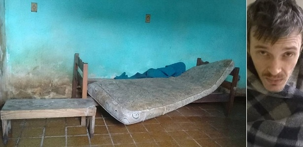 Cômodo onde Armando de Andrade foi encontrado, na casa do pai, na periferia de Guarulhos
