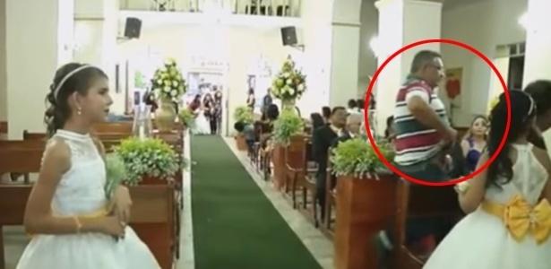 28.jan.2017 - Vídeo mostra momento da invasão do casamento em Alagoas