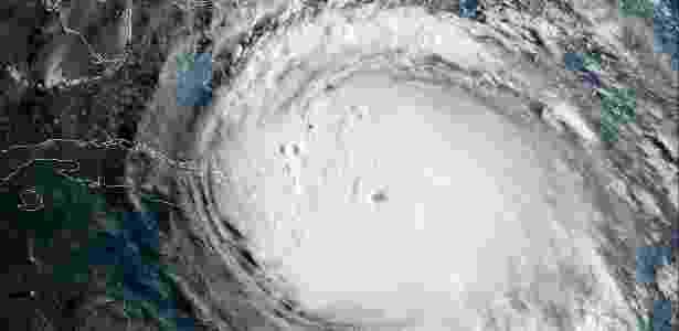 Imagem de satélite do Furacão Irma, que devastou o Caribe e parte dos EUA, em 2017 - NOAA/Nasa