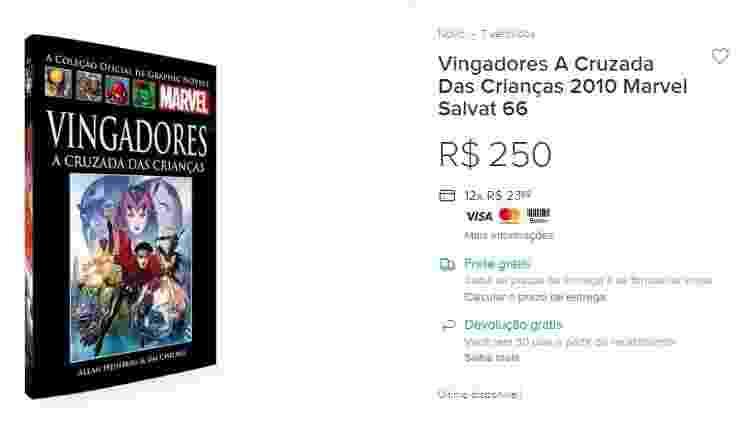 HQ Vingadores: A Cruzada das Crianças chega a custar R$ 250 na internet - Reprodução/internet/Mercado Livre