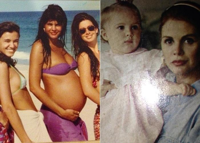 """22.mai.2013 - Para comemorar o aniversário de 22 anos de sua filha Bárbara, que foi na última quarta-feira (22), Monique Evans publicou fotos nostálgicas de sua gravidez e da filha nos primeiros meses. """"Como eu te quis, bebê!! Lutei por esse sonho e Deus me ouviu. Um milagrezinho lindo, pedacinho de mim. Minha amiga, minha filha, meu amor... Desejo que você seja feliz"""", disse Monique no Instagram"""