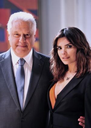 Antônio Fagundes vive o empresário César e Vanessa Giácomo Aline na novela de Walcyr Carrasco