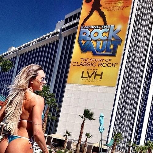 22.set.2013 - Juju Salimeni postou no Instagram registros de sua viagem a Las Vegas, nos Estados Unidos.