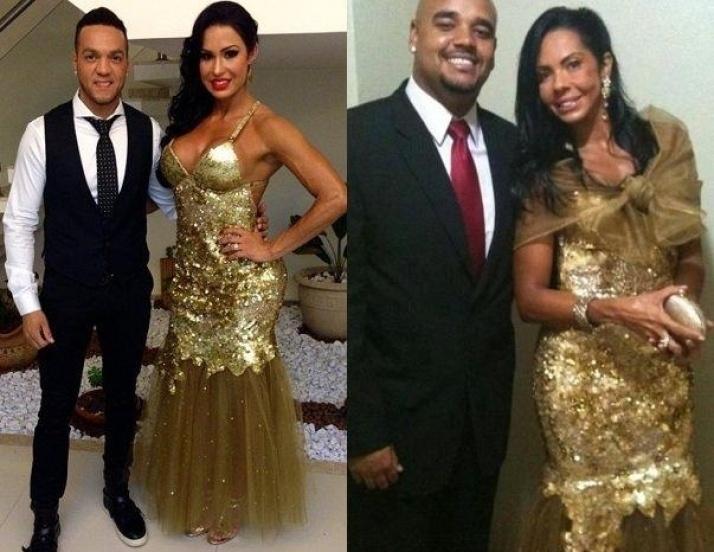 26.set.2013 - Parece que Gracyanne Barbosa deu uma bola fora no casamento de Naldo e Moranguinho na última segunda-feira (23). Segundo o blog