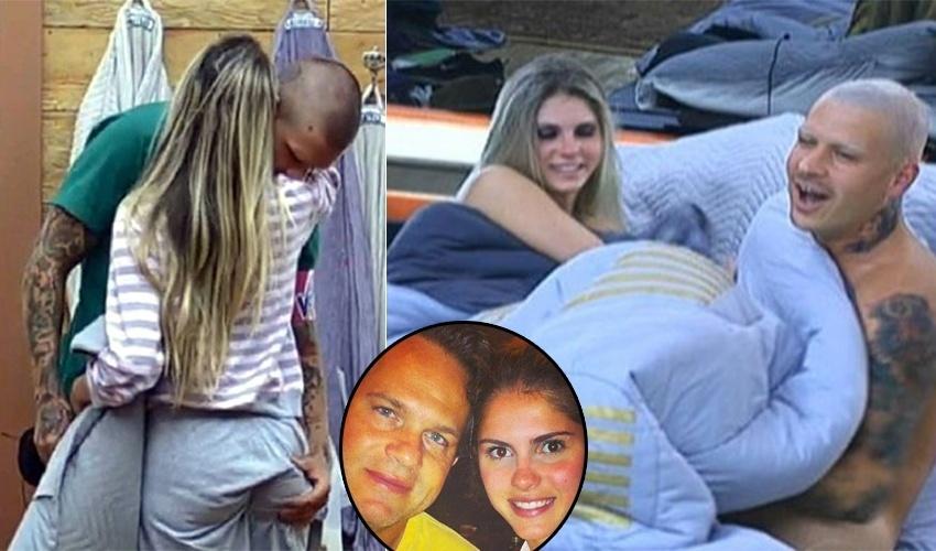 1.nov.2013 - O romance já acabou, mas Bárbara Evans e o então namorado de reality, Mateus Verdelho, foram protagonistas de cenas quentes embaixo dos edredons do reality