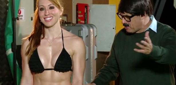 Aline já trabalhou com Sergio Mallandro em um programa do canal Multishow