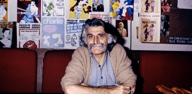 Cartunista Francois Cavanna em Paris em 1978 - AFP