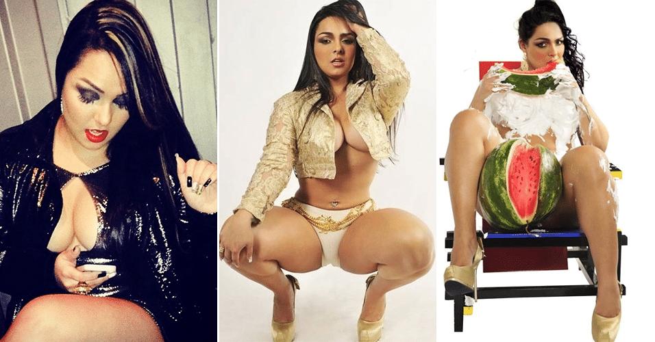 13.set.2014 - A dançarina Andressa Soares, a 'Mulher Melancia', negou ter qualquer ligação com uma rede de prostituição e disse que está