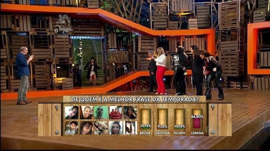 10.dez.2014 - Finalistas se emocionam ao reencontrar familiares