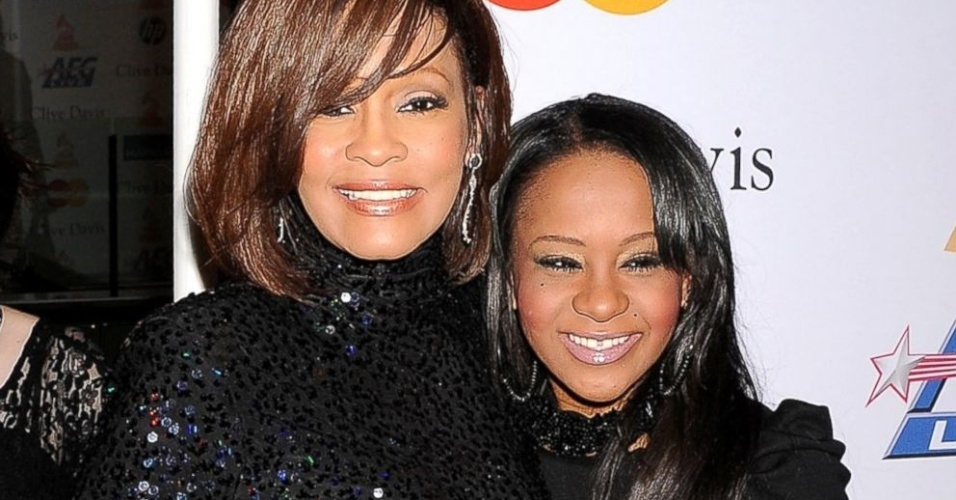 Whuitney Houston e a filha Bobbi Kristina Brown