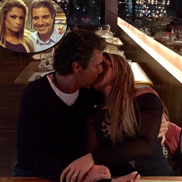 """30.mai.2015 - Vingou o romance entre Dani Sperle e João Kleber. Em foto publicada no Instagram, a modelo aparece trocando beijos com o apresentador durante um jantar romântico. O casal assumiu o relacionamento há poucos dias. """"Estamos começando um namoro. Ontem foi um jantar gostoso, um jantar carinhoso, de afeto, brindando nosso encontro. Ela é uma delícia de companhia e conversa é o que não falta"""", escreveu João Kléber na legenda da foto"""