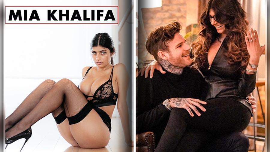 Mia Khalifa ficou noiva de chef de cozinha sueco - Montagem BOL / Reprodução/Instagram