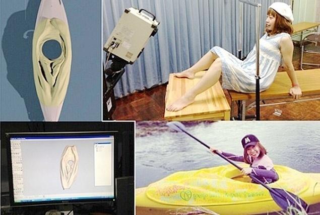 9.mai.2016 - A artista japonesa Megumi Igarashi, que cria objetos inspirados na forma de sua vagina, foi condenada por crime de obscenidade nesta segunda-feira (9) no Japão após um julgamento de grande repercussão midiática. A artista de 44 anos terá de pagar uma multa de 400.000 ienes (3.280 euros). Ela chegou a ser presa em julho de 2014 por tentar levantar fundos na internet para financiar a construção de um caiaque, cuja forma seria inspirada em seus órgãos genitais. Na ocasião, Igarashi havia publicado uma imagem 3D de sua vagina para que os internautas pudessem fazer cópias