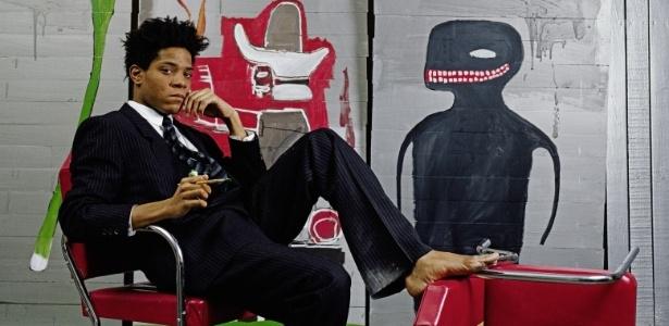 O artista americano Jean-Michel Basquiat, que morreu em 1988 - Reprodução
