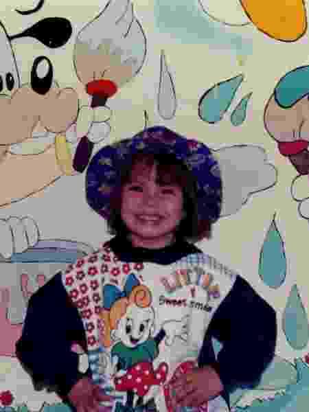 Carla, aos 3 anos de idade - Arquivo Pessoal