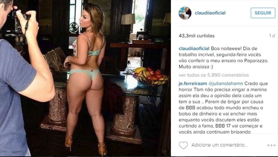 10.abr.2016 - Cacau, a Maria Claudia do