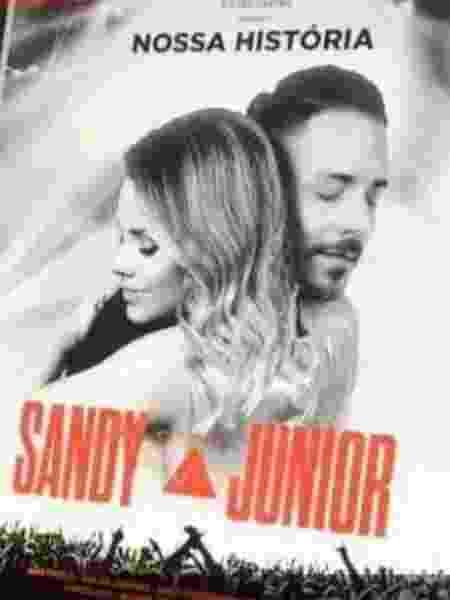Vaz imagem do cartaz da turnê de Sandy e Junior - Reprodução/Instagram
