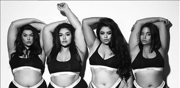 6ce3a742c Modelos plus size reproduzem fotos de lingerie das Kardashians ...