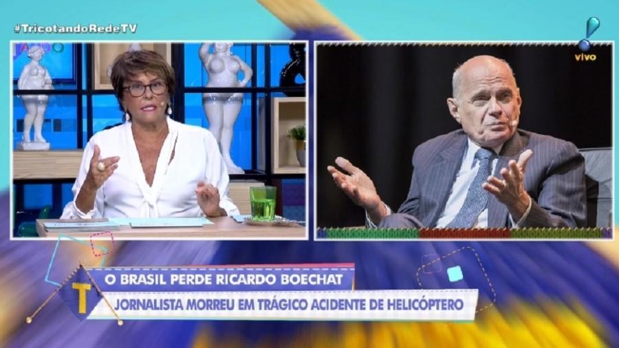 Márcia Fernandes comenta morte de Ricardo Boechat no Tricotando, da Rede TV! - Reprodução/RedeTV