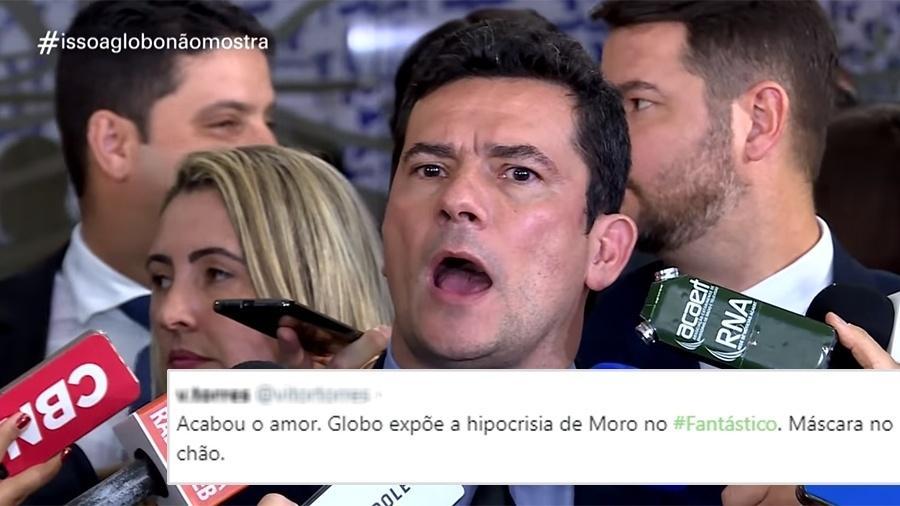 """Moro no quadro """"Isso a Globo Não Mostra"""" no Fantástico - Reprodução/TV Globo"""