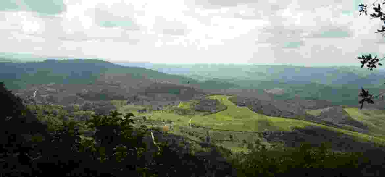 Serra da Barriga vista do alto do Parque Memorial Quilombo dos Palmares  - Beto Macário/BOL