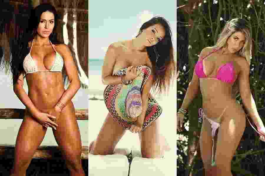 Gracyanne e Carol Nakamura - Divulgação/Sexy