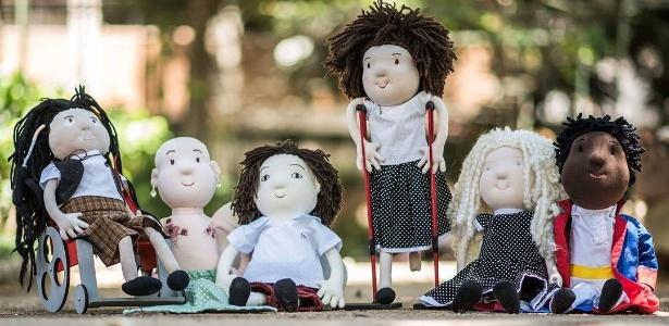 """A linha """"Amigos da Inclusão"""" traz bonecos de varias etnias e que retratam algum tipo deficiência"""