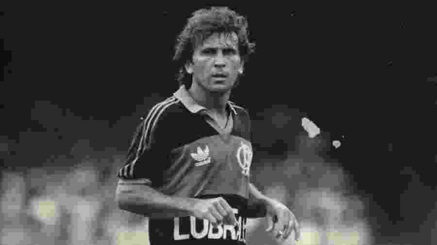 Zico jogando pelo Flamengo em 1987, ano da polêmica Copa União - Jorge Araújo / Folhapress