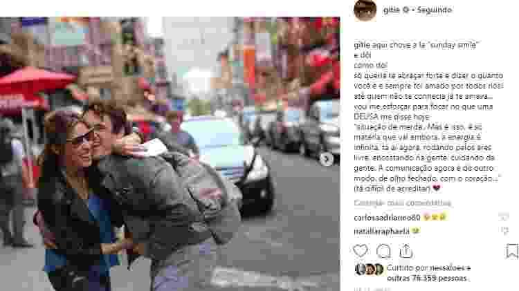 Gisele Itié e o ex-namorado Caio Junqueira - Reprodução Instagram - Reprodução Instagram