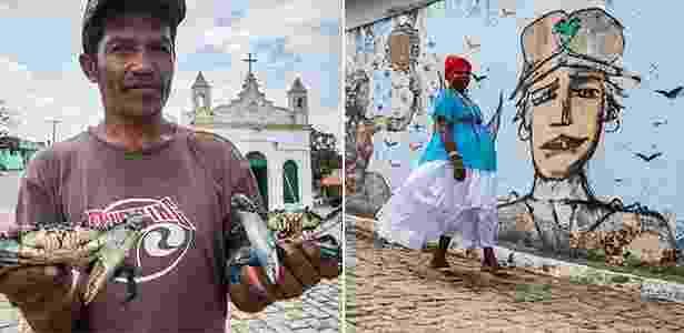 Pescadores e sambadeiros são figuras representantes de São Braz - Dario Guimarães Neto/BOL - Dario Guimarães Neto/BOL