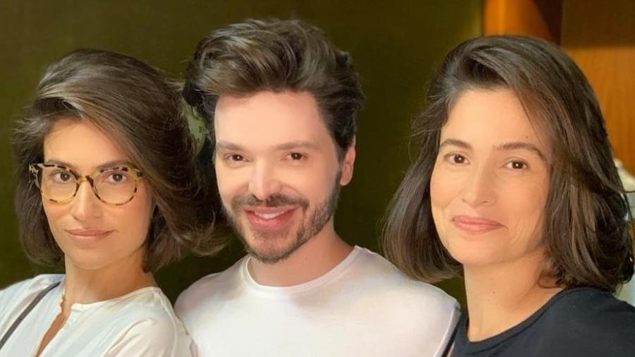 Renata Vasconcellos e a irmã gêmea, Lanza Mazza - Reprodução/Instagram