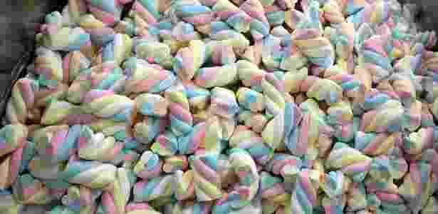 Os marshmallows em formato twist são os mais comuns e coloridos  - Divulgação/Docile
