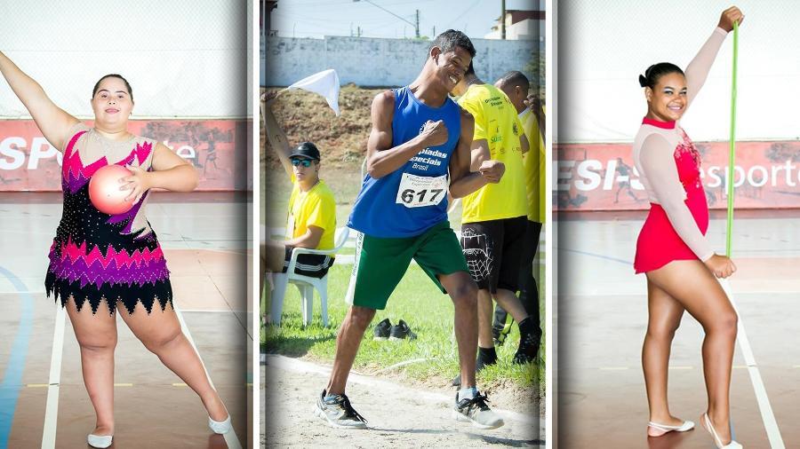 Atletas brasileiros devem disputar as Olimpíadas Especiais em março, em Abu Dhabi - Arquivo Pessoal/Divulgação//Montagem BOL