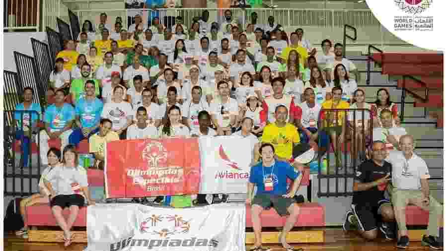 Imagem mostra delegação brasileira que busca apoio para ir às Olimpíadas Especiais  - Divulgação