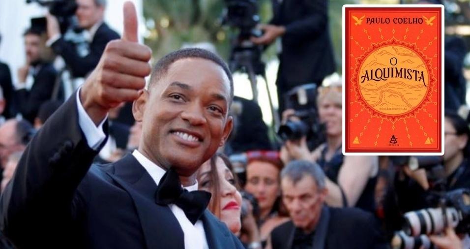 """1. Para começar a lista com os livros preferidos das celebridades, aqui está um ator internacional que é fã de uma obra escrita por um brasileiro. Isso mesmo! O livro de cabeceira de Will Smith é """"O Alquimista"""", de Paulo Coelho"""