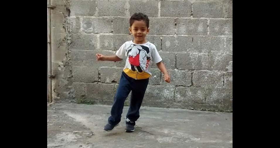 Joelma, de Taboão da Serra (SP), enviou foto do filho Nícolas, de três anos