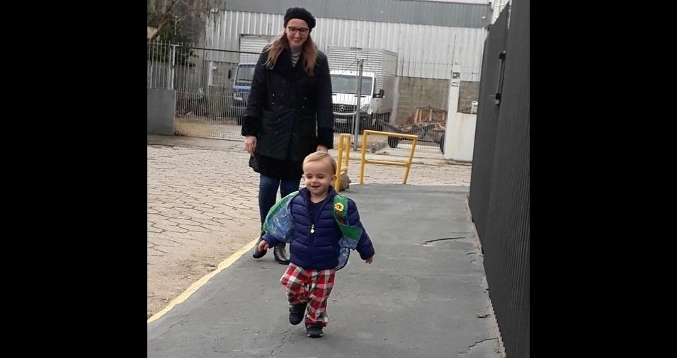 Priscila Lago enviou foto do filho Miguel, de um ano e oito meses, de Florianopolis (SC)