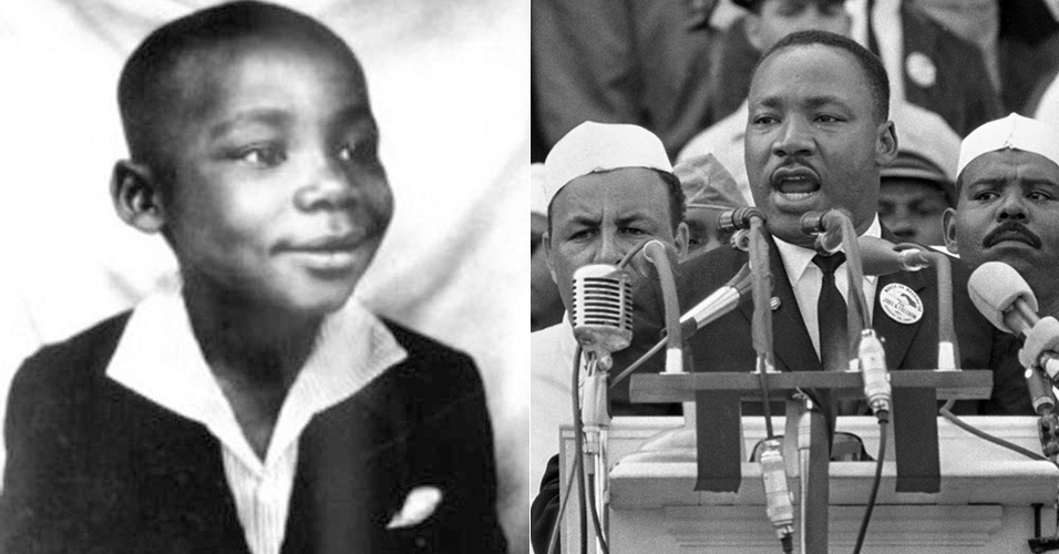 27.jul.2015 - O norte-americano Martin Luther King, assassinado em 1968, é mostrado na década de 30