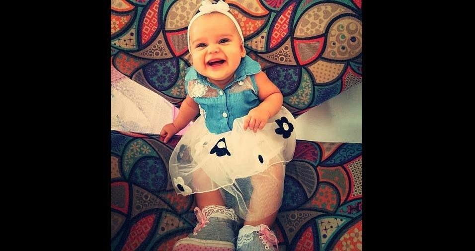 Tatiane enviou foto da filha Giovana, de sete meses, de Registro (SP)